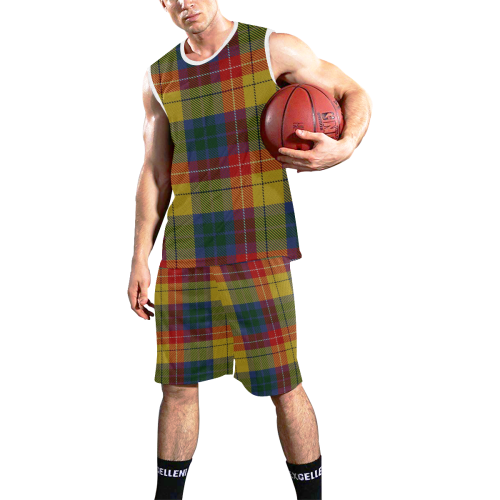 BUCHANAN TARTAN 2 All Over Print Basketball Uniform