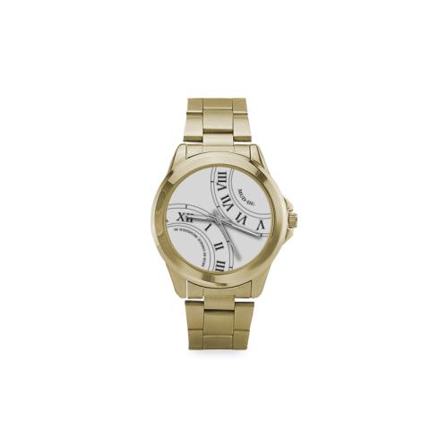 Roman Numeral White Faced Custom Gilt Watch(Model 101)
