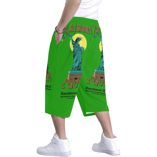 Lady Liberty Forlorn Short Pants Men's All Over Print Baggy Shorts (Model L37)
