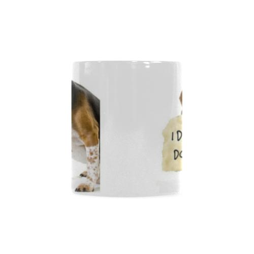 Coffee_Cup_Mug_Funny_Bad_Dog Custom White Mug (11oz)