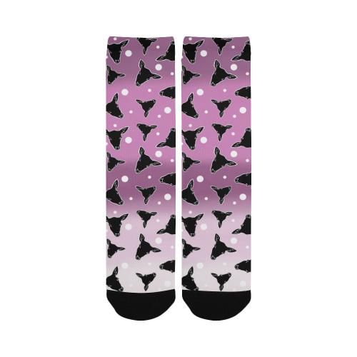 deer dots ombre Custom Socks for Women