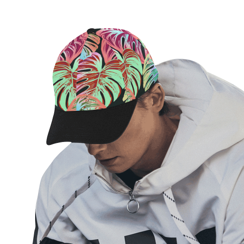 Pretty Leaves A by JamColors All Over Print Dad Cap C (7-Pieces Customization)