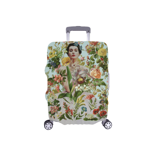 """Flowers Abound Luggage Cover/Small 18""""-21"""""""