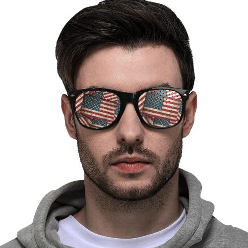 Patriotic USA American Flag Art Custom Goggles (Perforated Lenses)