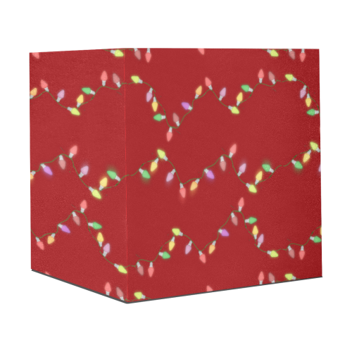 """Festive Christmas Lights  on Red Gift Wrapping Paper 58""""x 23"""" (2 Rolls)"""