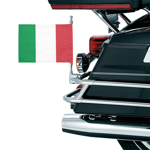 Italy Motorcycle Flag (Twin Sides)