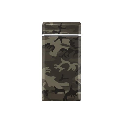 Camo Grey Rectangular USB Lighter (Lateral Button)