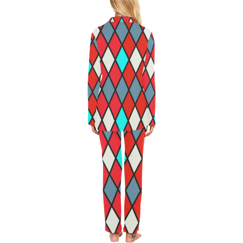 harlequin 2 Women's Long Pajama Set (Sets 02)