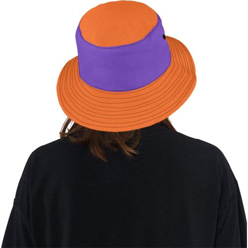 Orange, Purple Hat All Over Print Bucket Hat