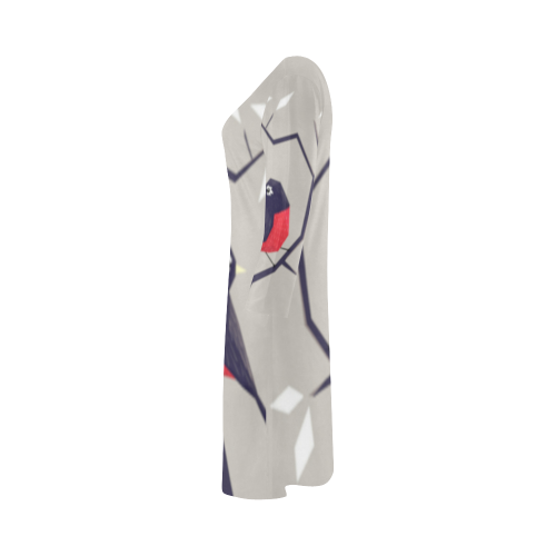 Origami Bird Bateau A-Line Skirt (D21)