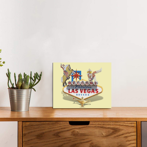 "Las Vegas Welcome Sign Photo Panel for Tabletop Display 8""x6"""