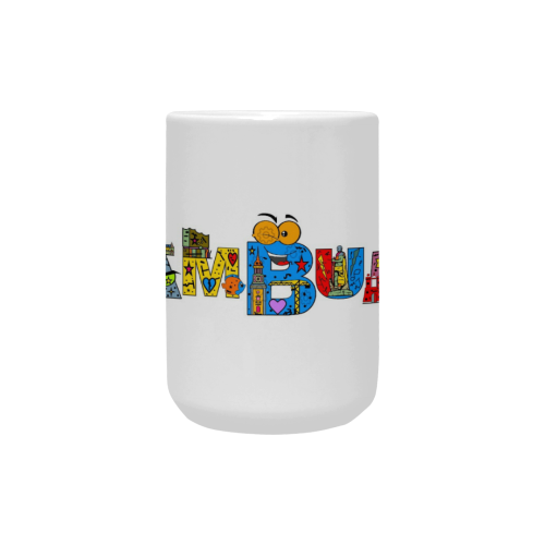 Hamburg Pop by Nico Bielow Custom Ceramic Mug (15OZ)