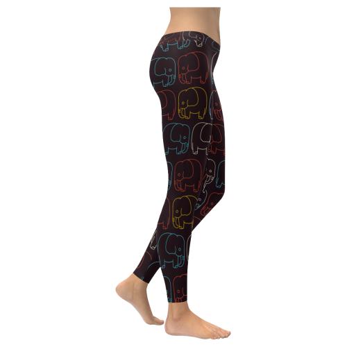 elephant pattern All Over Print Legging