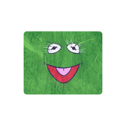Green Frog by Artdream Rectangle Mousepad