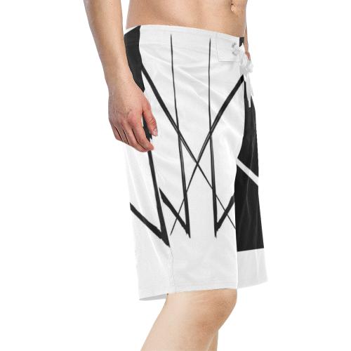 HALFZEEZ Men's All Over Print Board Shorts (Model L16)