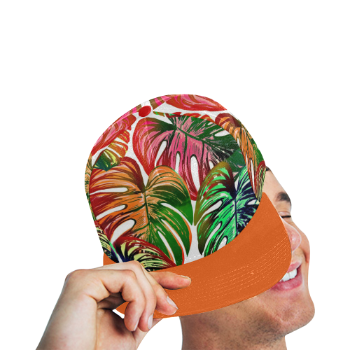 Pretty Leaves D by JamColors All Over Print Snapback Hat D