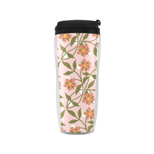 pink dot floral Reusable Coffee Cup (11.8oz)