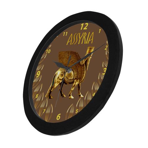 Assyria Circular Plastic Wall clock