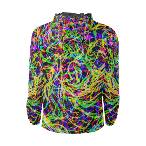 colorful abstract pattern Unisex All Over Print Windbreaker (Model H23)