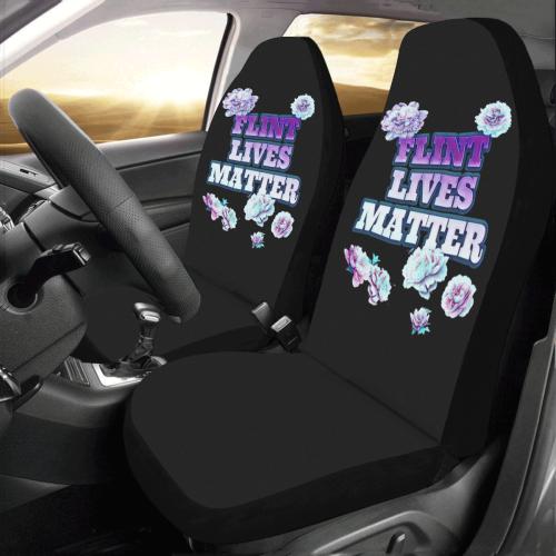 Black Flint Lives Matter Car Seat Covers (Set of 2)