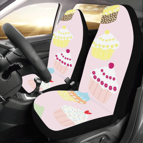 Cupcakes Car Seat Covers (Set of 2)