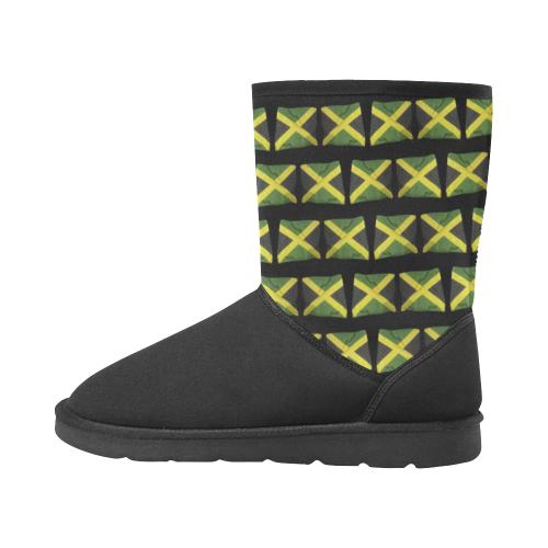 Jamaica Flags Custom High Top Unisex Snow Boots (Model 047)
