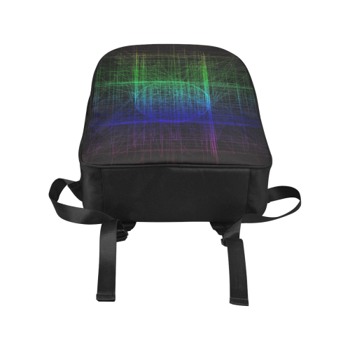 Blue and Green Retro Glitch Popular Fabric Backpack (Model 1683)