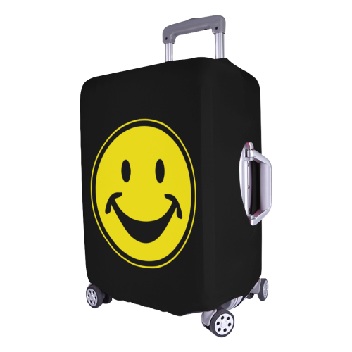 """Funny yellow SMILEY for happy people Luggage Cover/Large 26""""-28"""""""