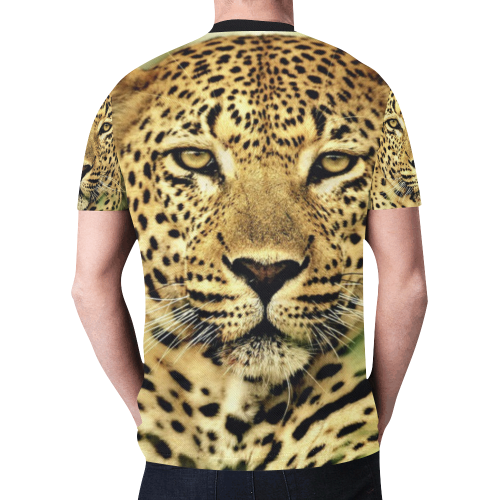 leopard11 New All Over Print T-shirt for Men (Model T45)