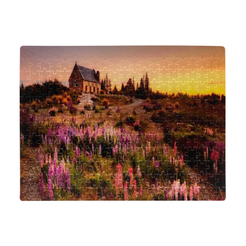 New Zealand Church A3 Size Jigsaw Puzzle (Set of 252 Pieces)