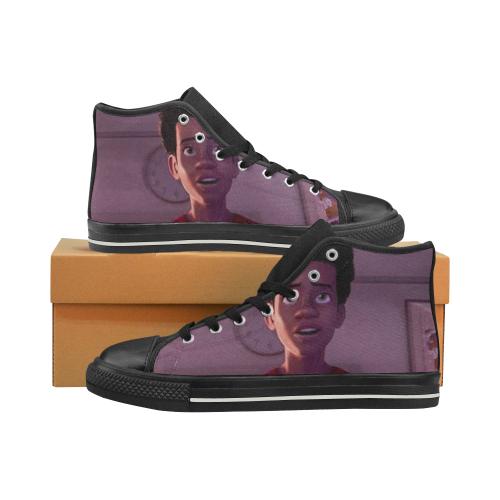spidermanSHOE Men's Classic High Top Canvas Shoes (Model 017)