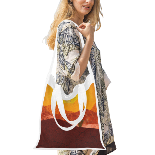 In The Desert Canvas Tote Bag/Medium (Model 1701)