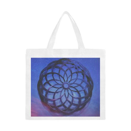 Mystical Orb Blue Purple Canvas Tote Bag/Large (Model 1702)