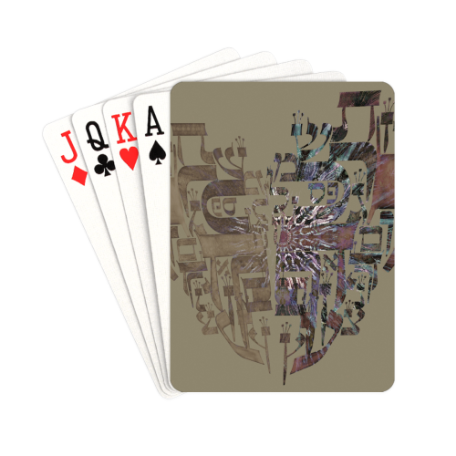 """coeur alphabet 2 Playing Cards 2.5""""x3.5"""""""