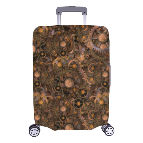 """Steampunk Cogs Luggage Cover/Large 26""""-28"""""""