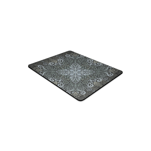 Vintage Ornate Watercolor Mandala in dark green Rectangle Mousepad