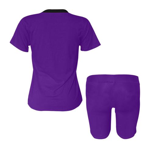 color indigo Women's Short Yoga Set (Sets 03)