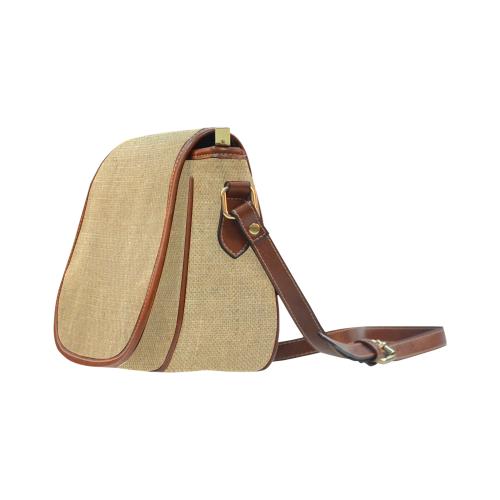 Burlap Coffee Sack Saddle Bag/Large (Model 1649)