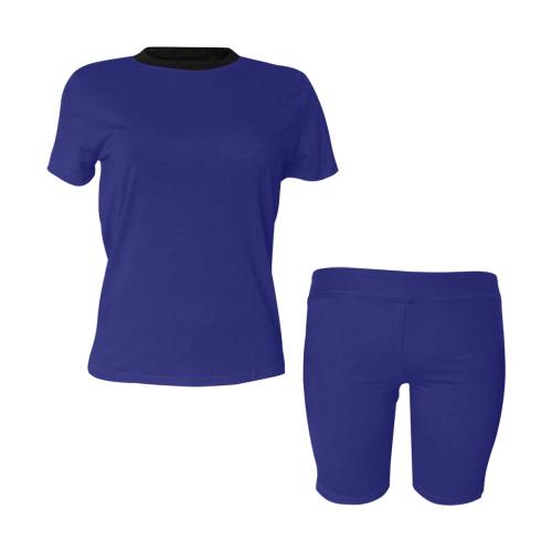 color midnight blue Women's Short Yoga Set (Sets 03)