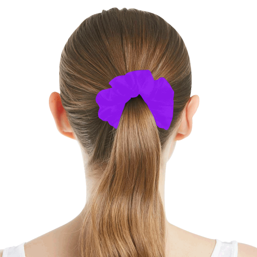 color electric violet All Over Print Hair Scrunchie