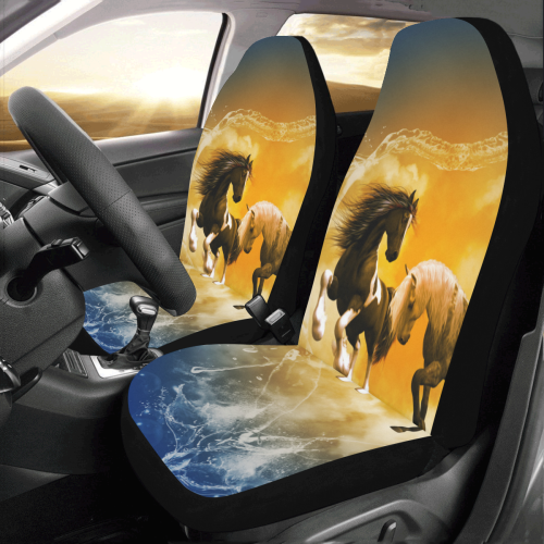 Horses with heart made of water Car Seat Covers (Set of 2)