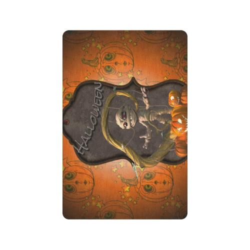 "Halloween, funny mummy Doormat 24""x16"" (Black Base)"