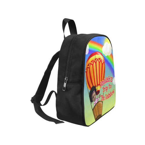 Anaiah Rainbow Book Bag Fabric School Backpack (Model 1682) (Small)