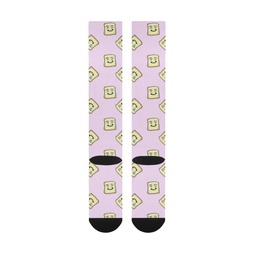 happy toast pink Over-The-Calf Socks