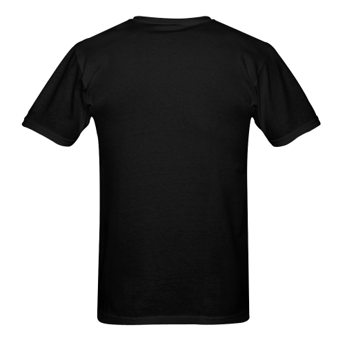 Autumn Chipmunk And Haystack Black Men's T-shirt in USA Size (Front Printing Only) (Model T02)