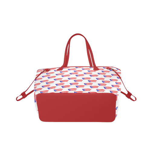 Puerto Rican Flag Clover Canvas Tote Bag (Model 1661)