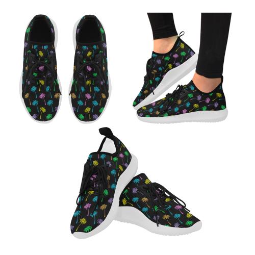 Multi Coconut Palms Dolphin Ultra Light Running Shoes for Women (Model 035)