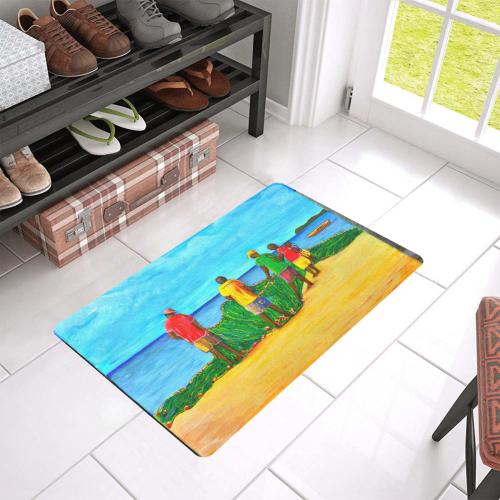 "manusartgnd Doormat 24""x16"" (Black Base)"