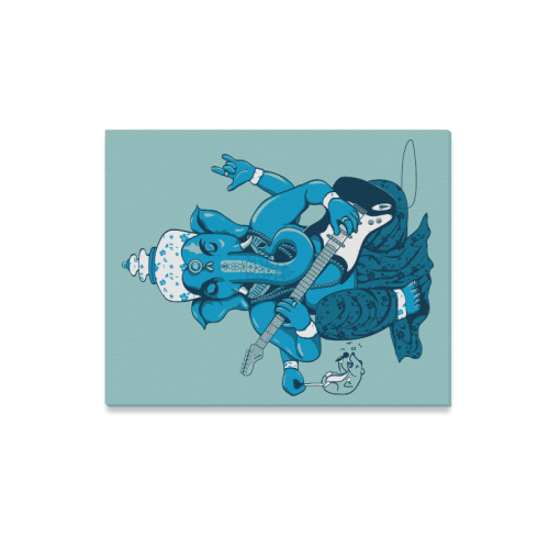 "Ganesha rocks ! Canvas Print 20""x16"""