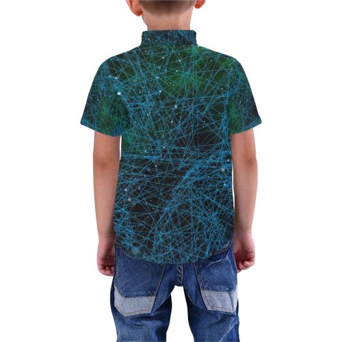 add01 Boys' All Over Print Short Sleeve Shirt (Model T59)